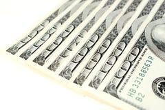 Cem notas de dólar Fotografia de Stock