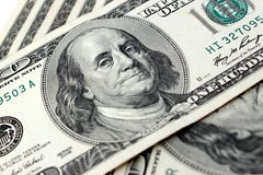Cem notas de dólar Foto de Stock