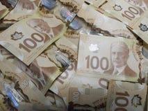 Cem notas de dólar 100 dólares Foto de Stock
