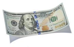 Cem notas de dólar Imagem de Stock