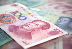 Cem notas de yuan Fotografia de Stock Royalty Free