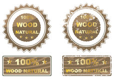 Cem por cento de madeira natural Foto de Stock