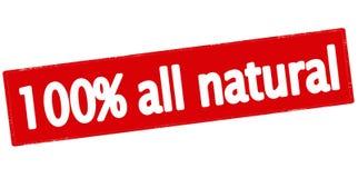 Cem por cento toda natural Foto de Stock