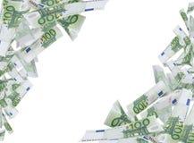 Cem quadros das notas do Euro Fotografia de Stock Royalty Free