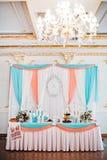 Cem rosa de turquesa do casamento Foto de Stock Royalty Free