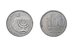 Cem shekels velhos 1980-85 Imagem de Stock Royalty Free