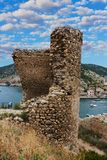 Cembolo Genoese fortress in Balaklava Royalty Free Stock Photography
