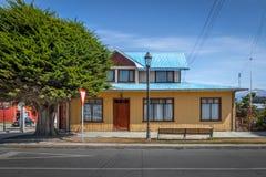 Cembruje kolorowego dom w wsi Chile Zdjęcie Royalty Free