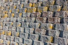 Cementów bloków ściana Zdjęcia Stock