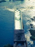 Cement aqua duct in Mae Suay reservoir in Chiang rai, Thailand Royalty Free Stock Image