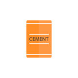 Cement bag flat icon, build repair elements. Construction tool, a colorful solid pattern on a white background, eps 10 Stock Photo