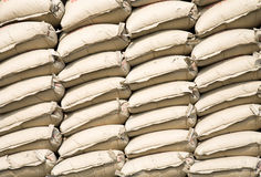 Cement bags Royalty Free Stock Photo