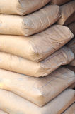 Cement bags Stock Images