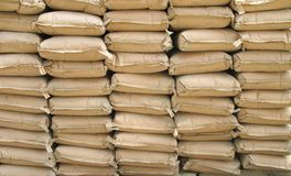 Cement Bags Stock Photos
