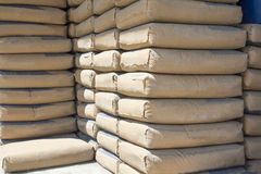 Cement bags Stock Photography