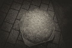 Cement ball on the ground Royalty Free Stock Images