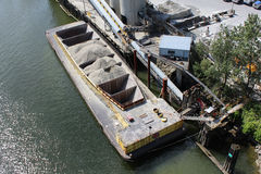 Cement Barge Stock Photo