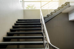 Cement basement stairs Royalty Free Stock Photo