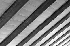 Cement Beam and Ceiling steel structure Royalty Free Stock Photos