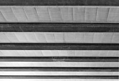 Cement Beam and Ceiling steel structure Stock Photography