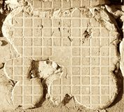 Cement blasted tile royalty free stock image