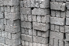 Cement block. A pile of cement blocks Royalty Free Stock Photos