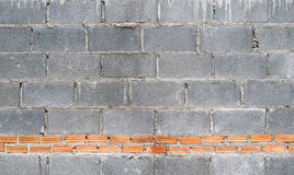 Cement block and brick wall. Stock Photography