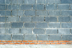 Cement block and brick wall. Stock Images