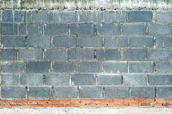 Cement block and brick wall. Royalty Free Stock Photos