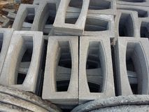 Cement block construction material Royalty Free Stock Photography