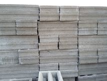 Cement block construction material Stock Image
