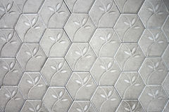 Cement block floor flower pattern background. Stock Images