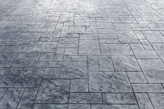 Cement block floor of pavement Royalty Free Stock Images