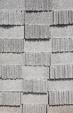 Cement block tiled wall pattern Stock Images
