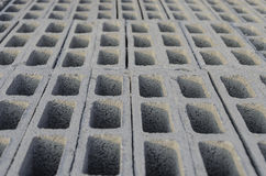 Cement block top stacking Stock Image