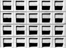 Cement block vent. Ventilation cement block wall pattern in the under tone with black and white color, selective focus Stock Photography