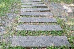 Cement block way Stock Image