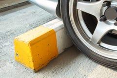 Cement block wheel Royalty Free Stock Photo
