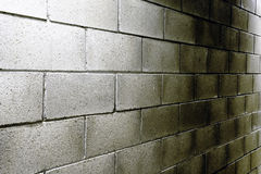 Cement blocks in a commercial building Royalty Free Stock Photography