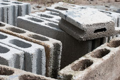 Cement blocks  for construction. Royalty Free Stock Images