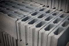 Cement blocks prepared for construction Royalty Free Stock Photo