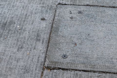 Cement Board. Fragment of cement board floor royalty free stock photo
