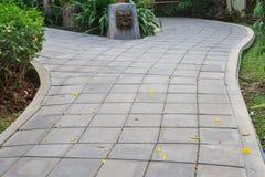 Cement brick walk way Stock Images