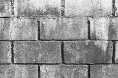 Cement brick wall Stock Images