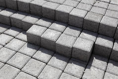Cement Bricks. Lying at a construction plant Stock Photos
