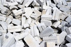 Cement Bricks Stock Image