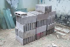 Cement bricks for building Stock Photography