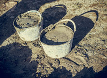 cement bucket Stock Images