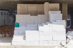 Cement building blocks Stock Images