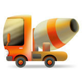 Cement carrier. Cartoon truck carrier concrete. construction equipment Royalty Free Stock Photography